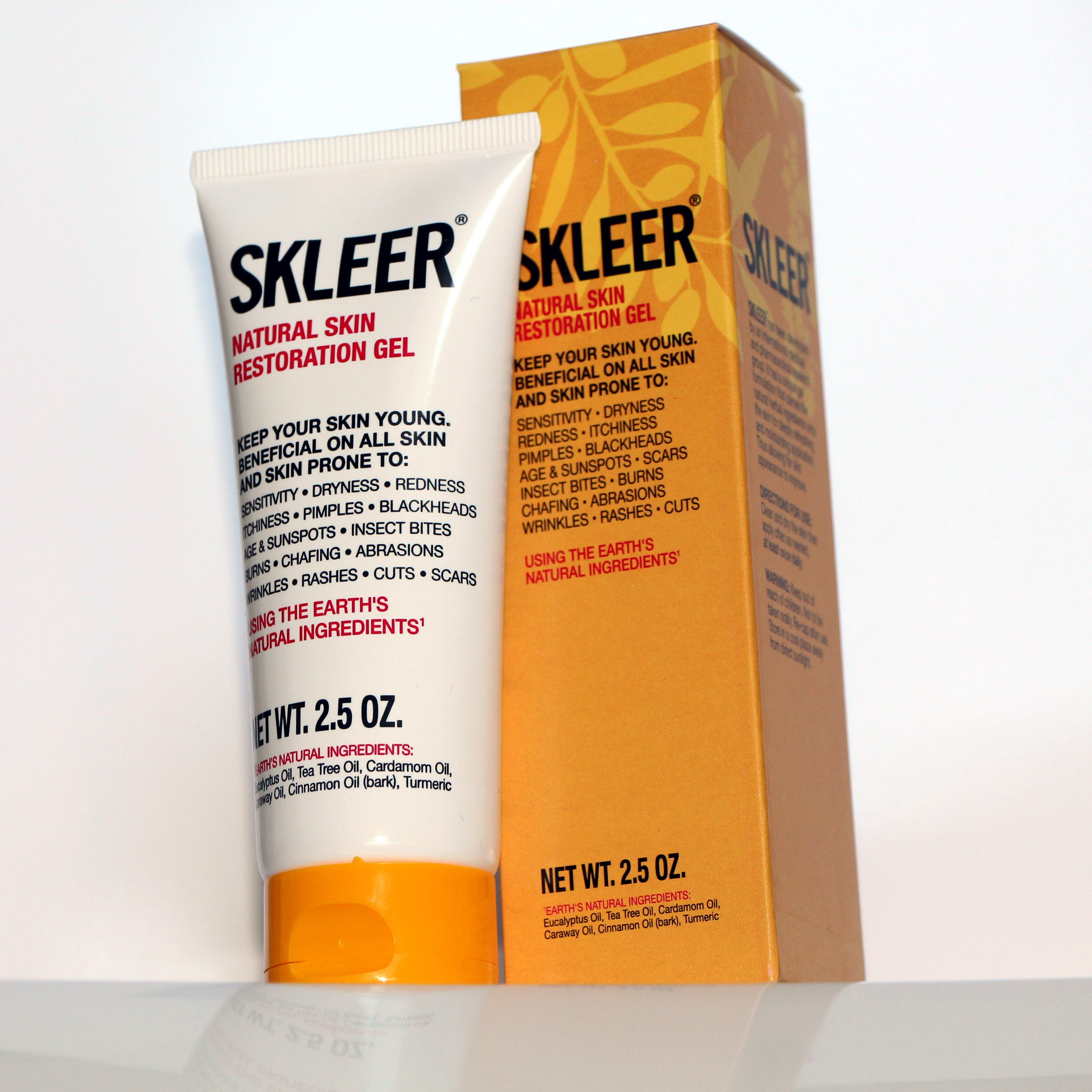 SKLEER – Natural Skin Restoration Gel – 75ml/2.5oz