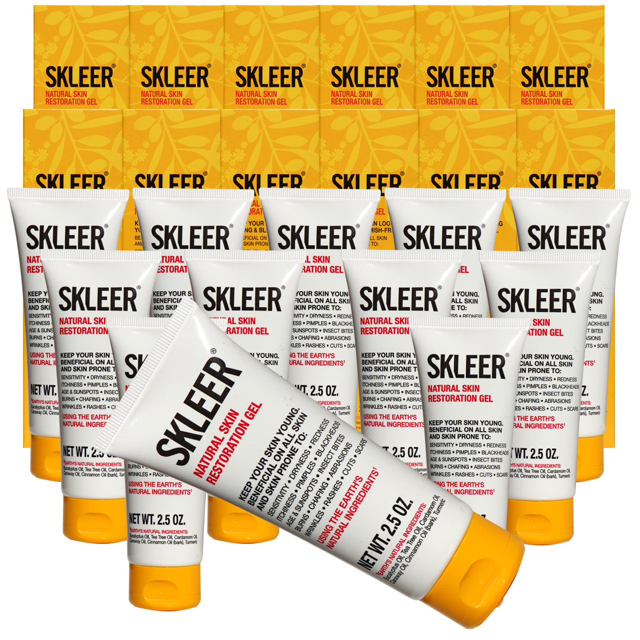 SKLEER – Natural Skin Restoration Gel – 75ml/2.5oz X12